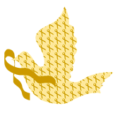 Dove of Hope Gold Ribbon